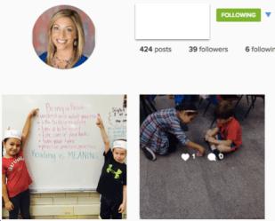 My daughter's 1st grade teacher has a class Instagram!