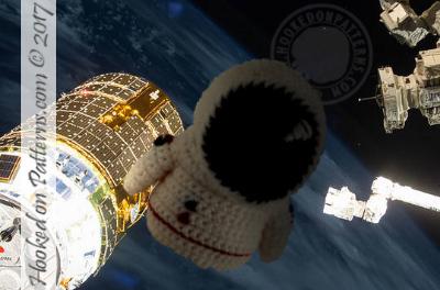 racer astronaut pilot gonk crochet
