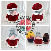 Christmas crochet patterns - Eve Gonk