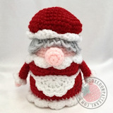 Free crochet doll patterns - Christmas Eve Gonk