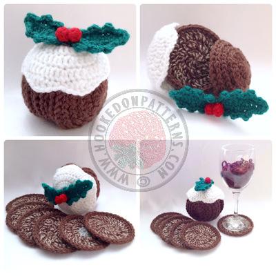 Christmas Pudding Crochet Pattern – Coasters!