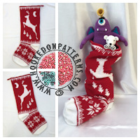 Christmas crochet patterns - Christmas Stocking Crochet Pattern