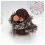 Doll clothes free crochet patterns - Eve's Wardrobe Fur Trim Coat
