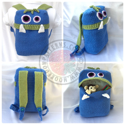 Knapsack Crochet Pattern – Monsters