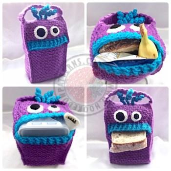 Lunch Monsters Lunch bag Crochet Pattern