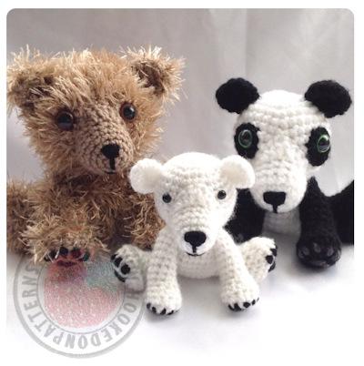 Bear Amigurumi Crochet Pattern – Mei the Panda & Friends