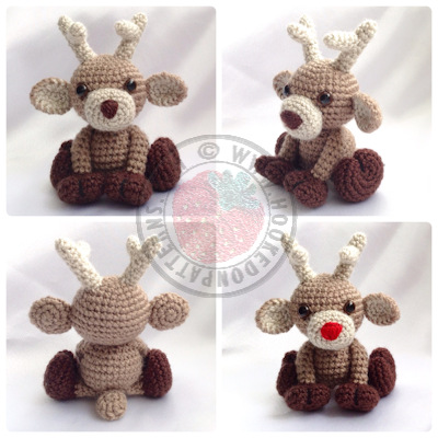 Noel the Reindeer Amigurumi Crochet Pattern
