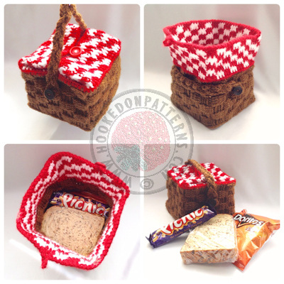 Crochet Picnic Basket Pattern