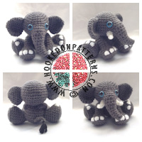 Amigurumi crochet patterns - Elephant Amigurumi Crochet Pattern
