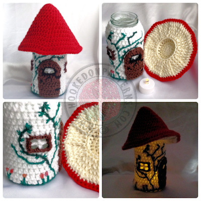 Jar Cover Crochet Pattern  Toadstool Fairy House
