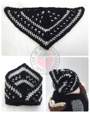 Bandana free crochet pattern