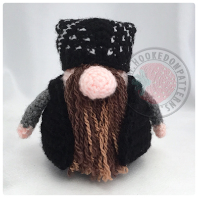 56730c8ccc09c5 Biker Gonk Free Crochet Pattern - Toy Clothes - Hooked On Patterns