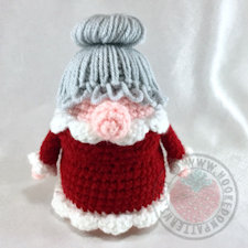 Crochet christmas ornament - Christmas Eve Gonk Amigurumi Crochet Pattern