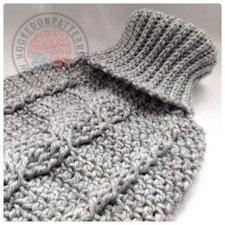 Bottle cover crochet pattern