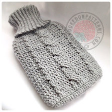 Hot water bottle cover crochet pattern