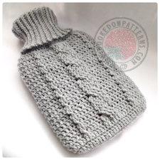 Hot water bottle cover crochet pattern