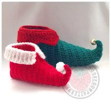 elf slippers shoes crochet pattern