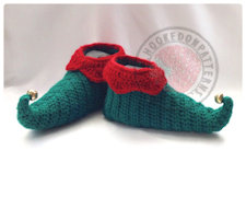 Curly Toes Elf Slipper Shoes Crochet Pattern