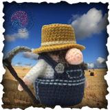 Becoming Santa Gonk free crochet patterns- A Gonks Journey Farmer Gonk Crochet Pattern