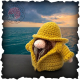 Becoming Santa Gonk free crochet patterns - A Gonks Journey Fisherman Gonk