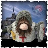 Becoming Santa Gonk free crochet patterns - Knight Gonk Crochet Pattern