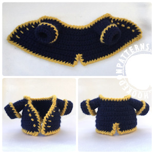Pirate Jacket Free Crochet Pattern