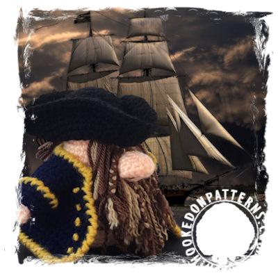 Pirate Gonk Free Crochet Pattern