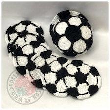 Soccer coasters crochet pattern