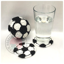 Football Coasters Crochet Pattern