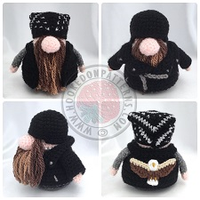 Transport Gonks Crochet Patterns Biker Gonk Outfit
