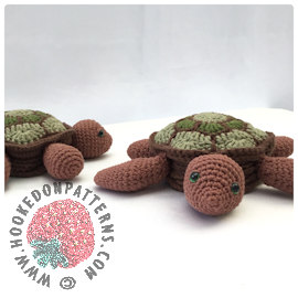 Tortoise Turtle Coasters Crochet Pattern