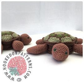 Tortoise Turtle Coasters Crochet Pattern