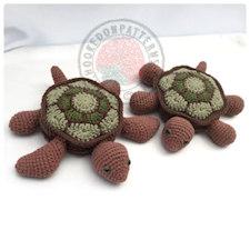 Tortoise Turtle Crochet Coasters