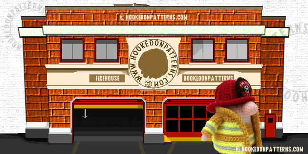 Fireman Crochet Firehouse
