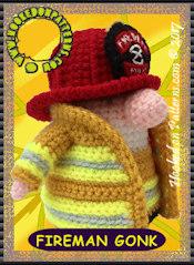 Crochet Gonk Outfits - Fireman Gonk Card 2