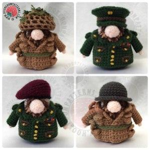 Gonk Heroes Army Soldier Crochet