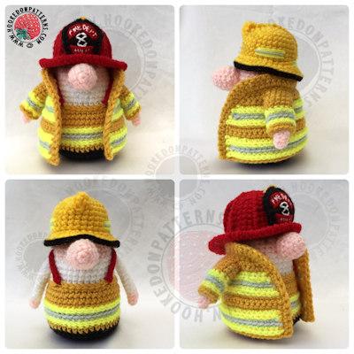 Fireman Gonk free crochet pattern - Gonk Heroes Fire Free Crochet Pattern