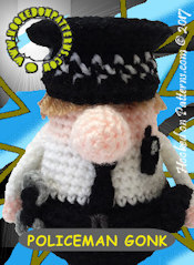 Policeman Gonk Crochet Pattern Card 2