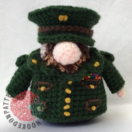 Soldier Gonk Crochet Pattern