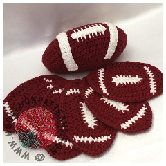 American Football Coasters Crochet Pattern