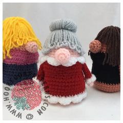 Christmas Eve Doll Crochet Pattern