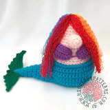 Free crochet doll patterns - Mermaid Tail Free Crochet Pattern