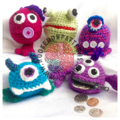 Money Monsters Purse Crochet Pattern