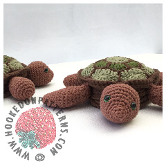 New Crochet Patterns - Turtle Coaster Crochet Pattern
