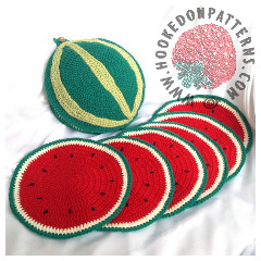 Watermelon Placemat Crochet Pattern
