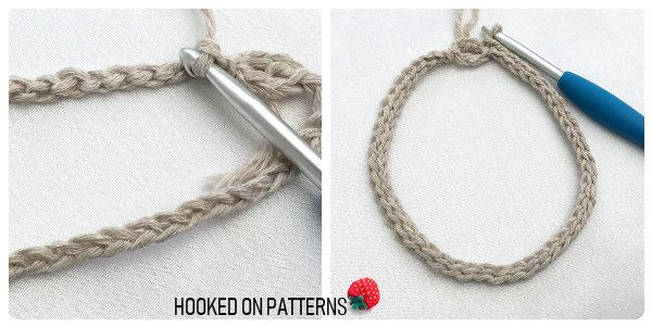 Shower Puff Crochet Pattern Round 1 Step 3