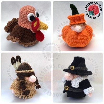 Thanksgiving Gonks Outfit Crochet Patterns