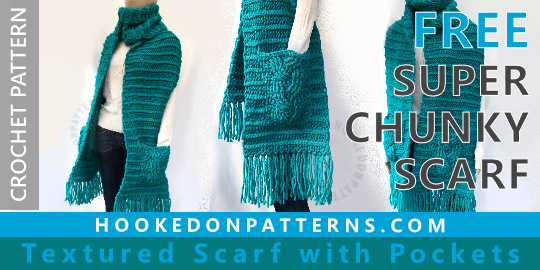 Free Crochet Scarf Pattern Super Chunky
