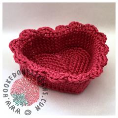 New Crochet Patterns - Heart Basket Crochet Pattern