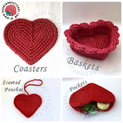 Heart Coasters and Baskets Set